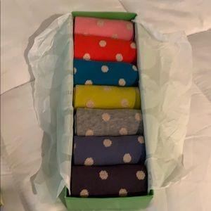 Mini Boden girls 7 pack socks. 12.5 - 3.5 shoe